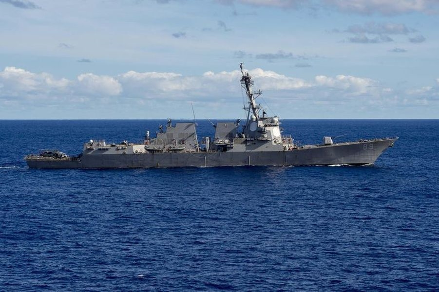 中國人民解放軍南部戰區表示,美國海軍馬斯廷號驅逐艦(USS Mustin,DDG 89)28日「非法闖入我西沙領海」。圖為7月航經台灣海峽的軍艦DDG-89。(圖取自美國海軍官網網頁navy.mil)