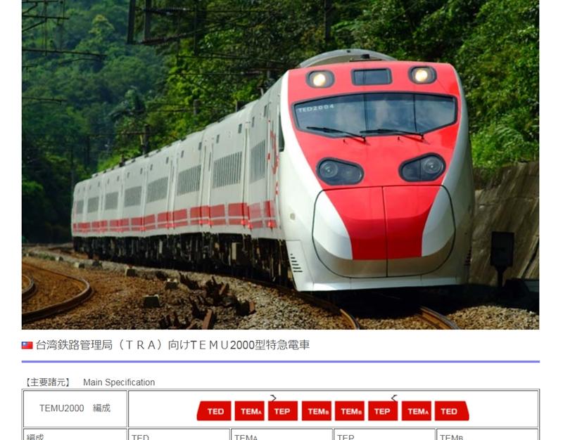台鐵一列普悠瑪列車21日發生嚴重出軌事故。列車製造商「日本車輛製造」22日開盤後股價重挫。(圖取自日本車輛製造株式會社網頁n-sharyo.co.jp)