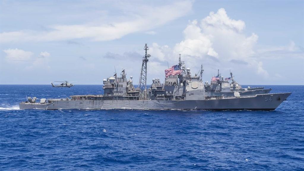 美國國防部表示,柯蒂斯.魏柏號驅逐艦與安提坦號巡洋艦(圖)22日依循國際法例行性通過台灣海峽,體現美國致力於自由開放的印度太平洋區域。(圖取自美國海軍官網網頁navy.mil)
