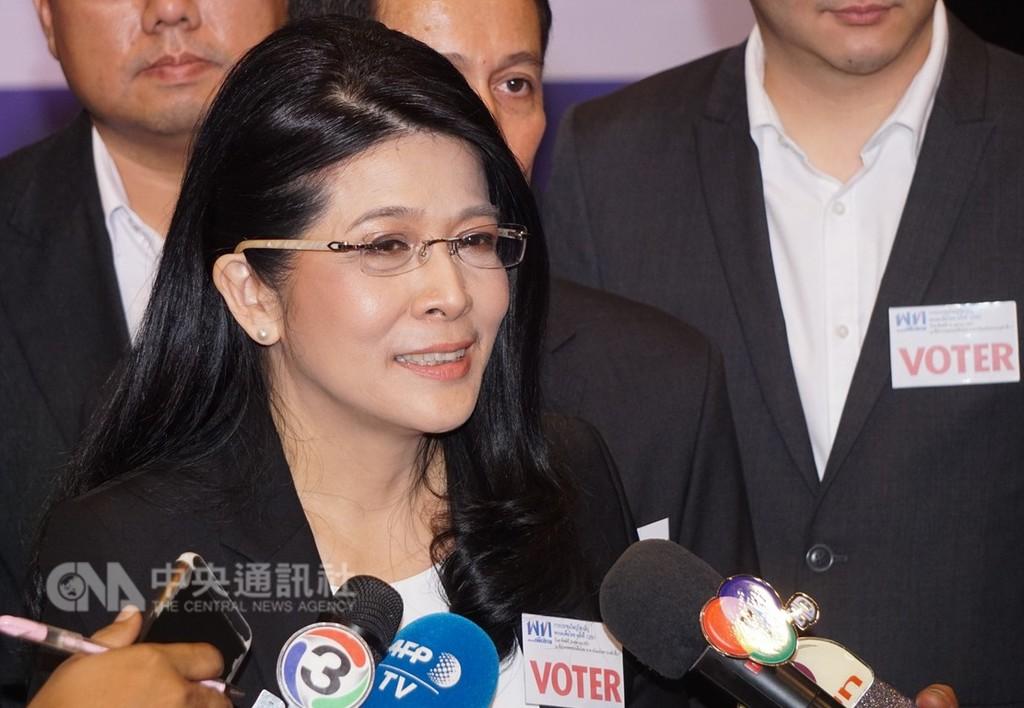泰國為泰黨28日舉行黨代表大會,選出女政治家蘇達拉為選戰策略長,操盤明年大選。中央社記者劉得倉曼谷攝 107年10月28日
