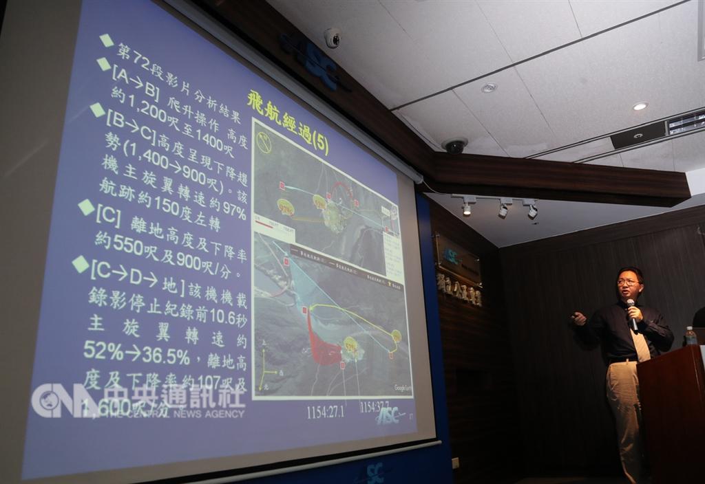 飛航安全調查委員會31日上午公布凌天航空B-31118事故調查報告,紀錄片「看見台灣」導演齊柏林是這起空難的罹難者,調查報告指出,直升機可能因高度過低、駕駛疲勞而釀悲劇。中央社記者張皓安攝 107年10月31日