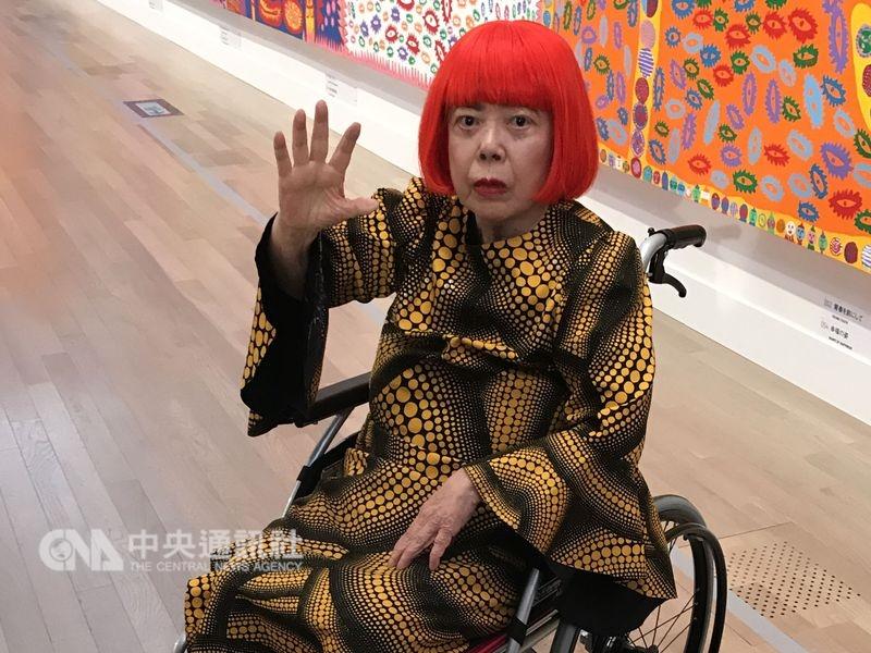 中國上海市等地近期舉辦山寨版草間彌生展,草間彌生2日向日媒表示,假作品展「掠奪花費我一生的創造」,實在令人無比遺憾。(中央社檔案照片)