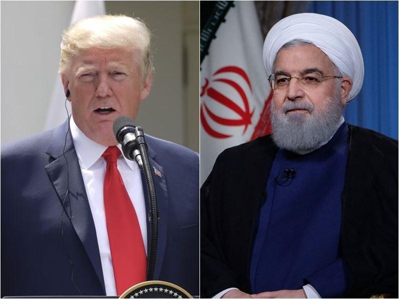 川普政府對伊朗實施第2批制裁。左為美國總統川普,右為伊朗總統羅哈尼。(圖左為中央社檔案照片;圖右為檔案照片/安納杜魯新聞社提供)