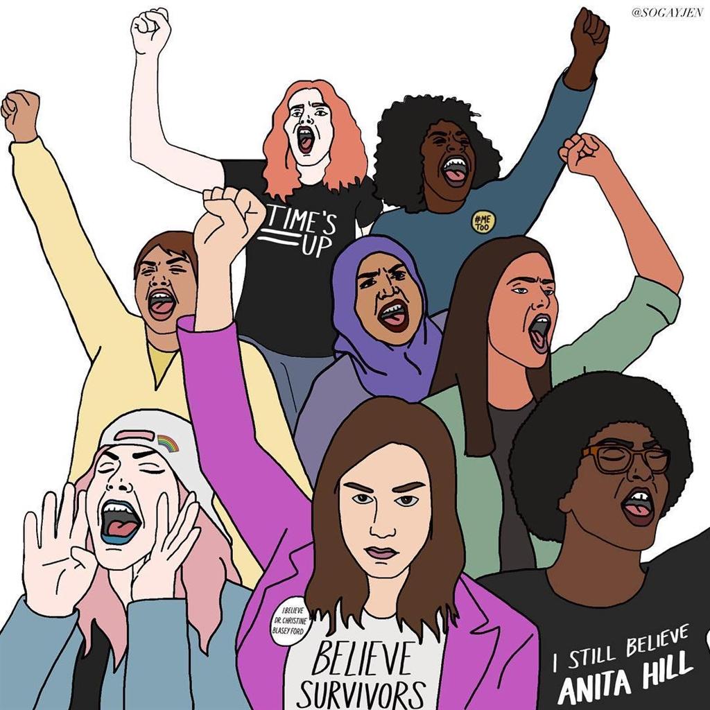 受#MeToo運動影響,及大法官任命案造成分裂激發眾怒的推波助瀾,女性選民在2018年美國期中選舉可能扮演關鍵角色。(圖取自twitter.com/USOWomen)