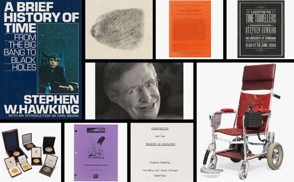 已故英國物理學家霍金使用過的一台紅色電動輪椅,8日在倫敦線上拍賣得近30萬英鎊。(圖取自佳士得網頁www.christies.com)