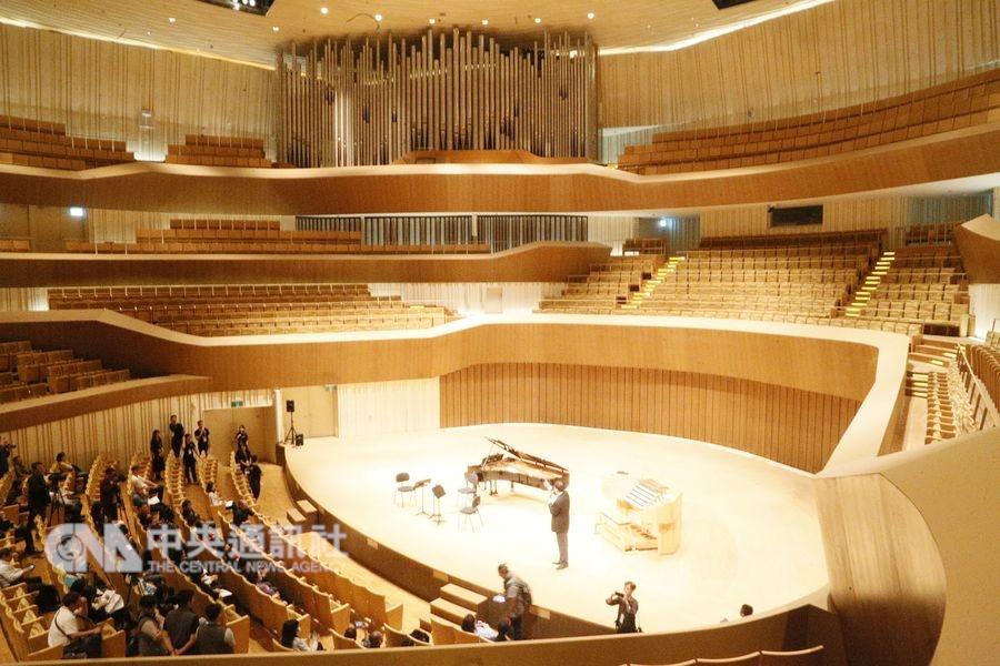 衛武營的管風琴有127個音栓和9085支音管,從規模來說是亞洲最大。(中央社檔案照片)