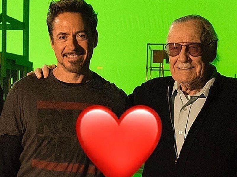 漫威之父史丹李(右)12日過世,「鋼鐵人」小勞勃道尼(左)在Instagram哀悼說,「我欠你太多,安息吧。」(圖取自小勞勃道尼IG www.instagram.com/robertdowneyjr)