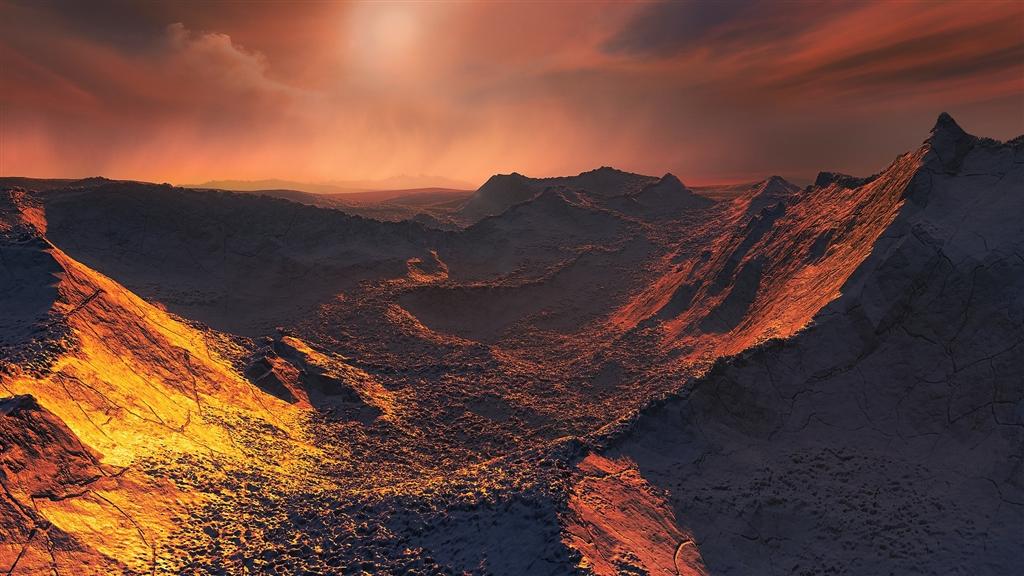 天文學家發現一顆「超級地球」巴納德星B,距離太陽系僅約6光年。圖為歐洲南方天文臺根據望遠鏡影像所繪製的星球表面示意圖。(圖取自維基共享資源;作者ESO/M. Kornmesser,CC BY-SA 4.0)