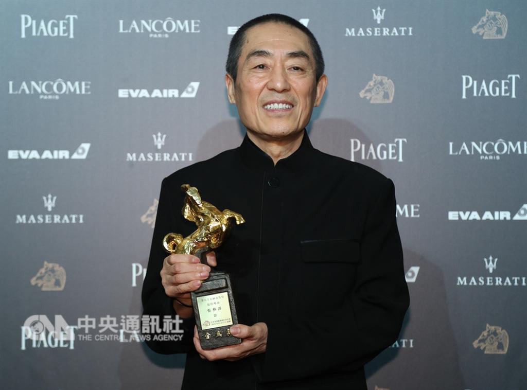 第55屆金馬獎頒獎典禮17日晚間在台北國父紀念館舉行,最佳導演獎由張藝謀以「影」獲得。中央社記者張新偉攝 107年11月17日