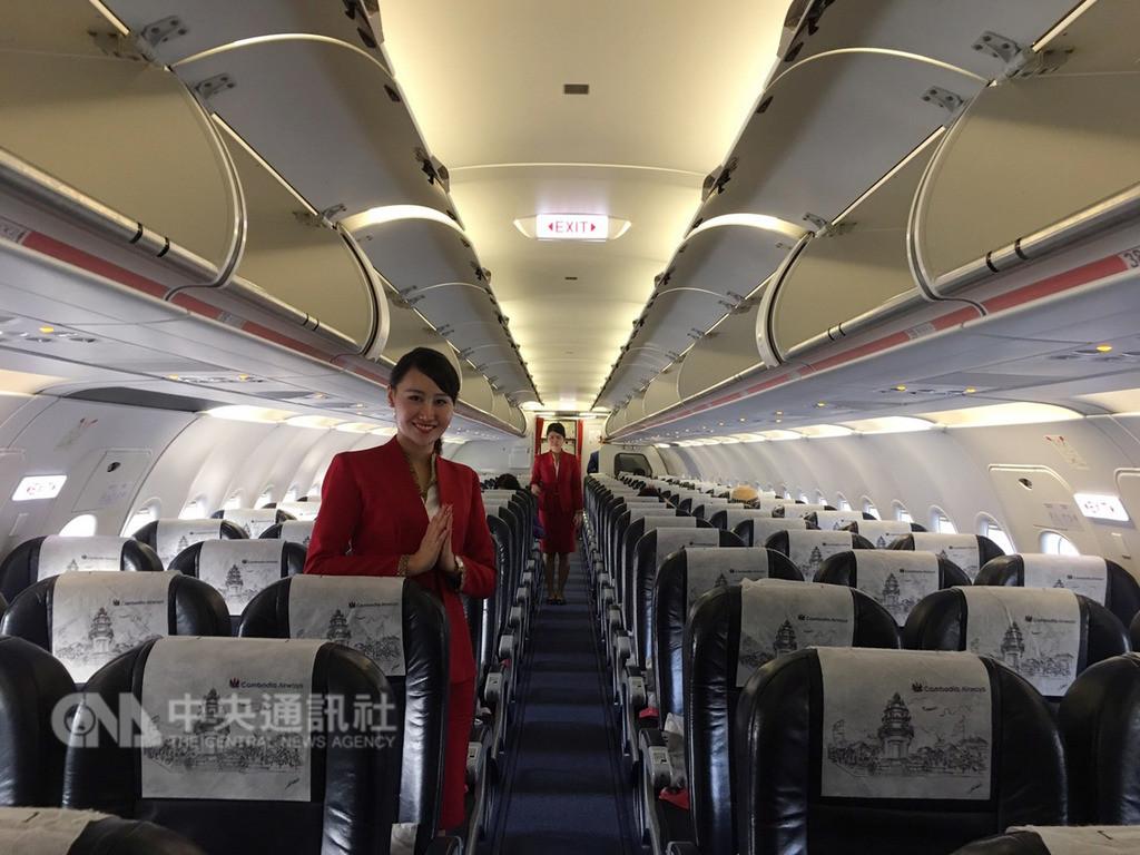 柬埔寨航空19日預告,21日將首航台中-暹粒(吳哥),每週兩班,估計這條新航線每年可為台灣帶來近兩萬名柬埔寨旅客。(柬埔寨航空提供)中央社記者汪淑芬傳真 107年11月19日
