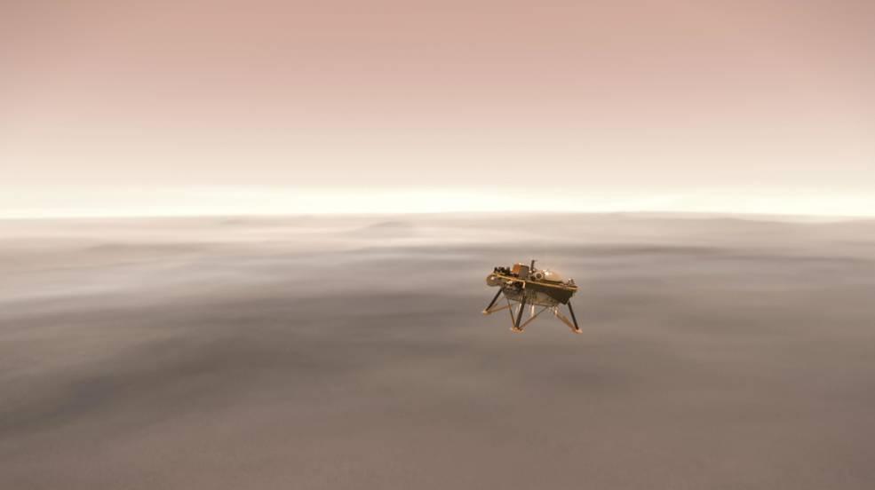 NASA無人探測器「洞察號」26日將登陸火星,這是首個偵聽火星地震、研究地底運作的探測器。(圖取自NASA官網www.nasa.gov)
