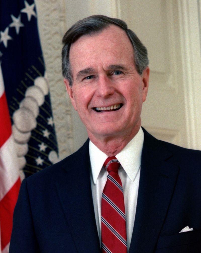 前美國總統老布希(圖)的家族發言人表示,老布希辭世,享壽94歲。(圖取自維基共享資源網頁,版權屬公有領域)