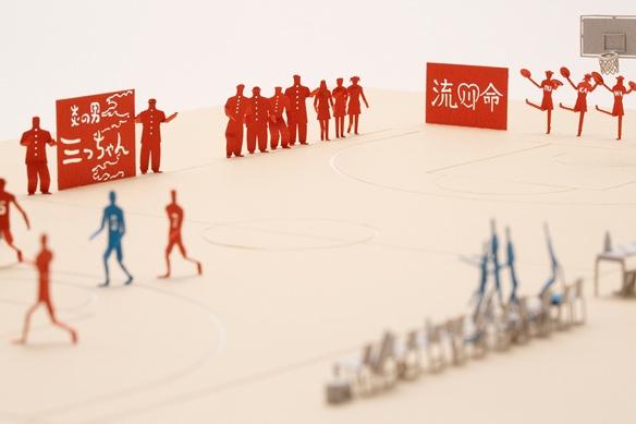 日本紙模型藝術家寺田尚樹提到與「灌籃高手」作者井上雄彥的合作時說:「這是一部很厲害的漫畫,看完了會哭,我也把這份感動放到模型當中。」(圖取自TERADA MOKEI網頁teradamokei.jp)