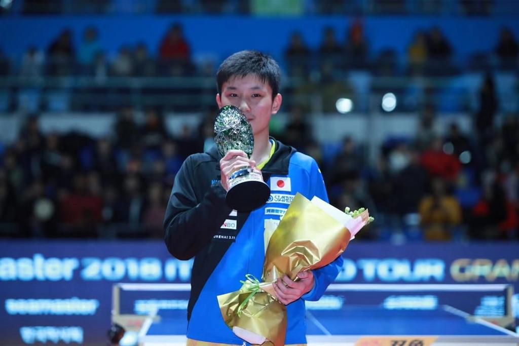 國際桌球總會世界巡迴賽總決賽男單決賽16日登場,15歲的日本桌球一哥張本智和奪得冠軍,成為本項比賽歷來最年少冠軍。(圖取自國際桌總官網網頁cn.ittf.com)
