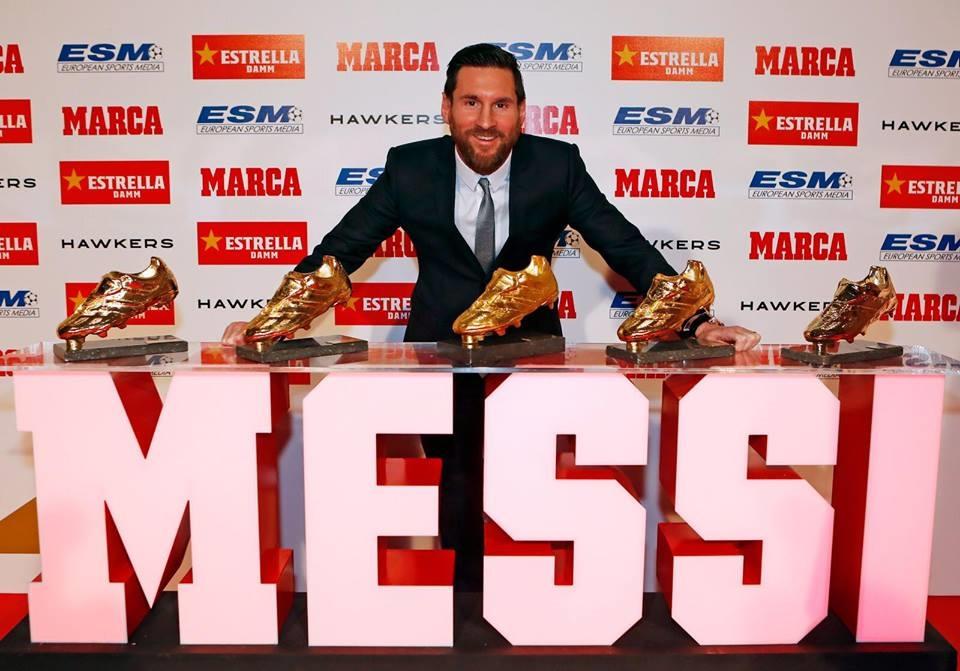 梅西5度獲歐洲金靴超越C羅成史上最多| 運動| 重點新聞| 中央社CNA
