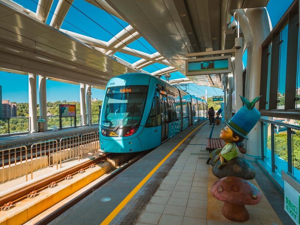 北台灣第一條輕軌「淡海輕軌」綠山線興建完成,23日將通車。(新北捷運工程局提供)中央社記者王鴻國傳真 107年12月20日