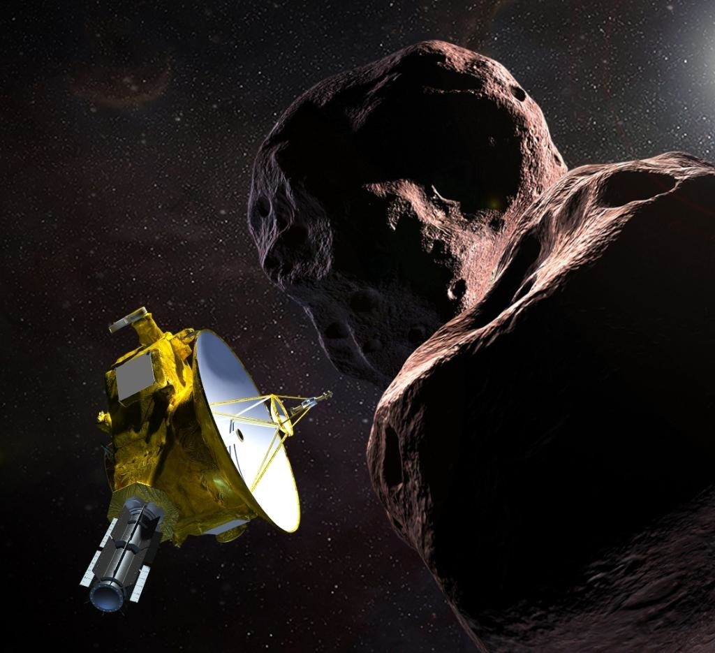 NASA無人太空船「新視野號」,元旦將最接近距地球最遠、還可能是人類所拍到的最遠古星體「終極遠境」。(圖取自twitter.com/nasanewhorizons)