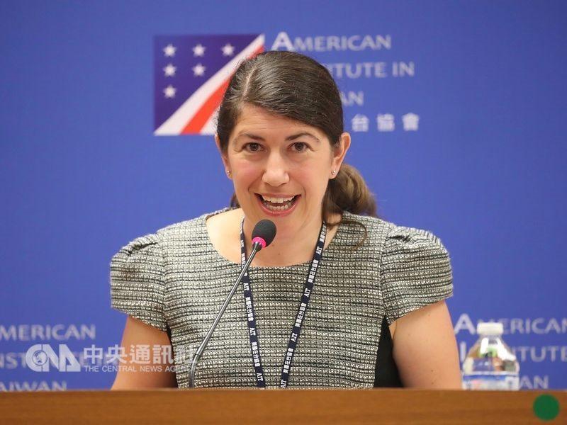 美國在台協會發言人孟雨荷10日表示,美方已清楚向中國表達,應停止壓迫台灣並恢復與台灣民選政府的對話。(中央社檔案照片)