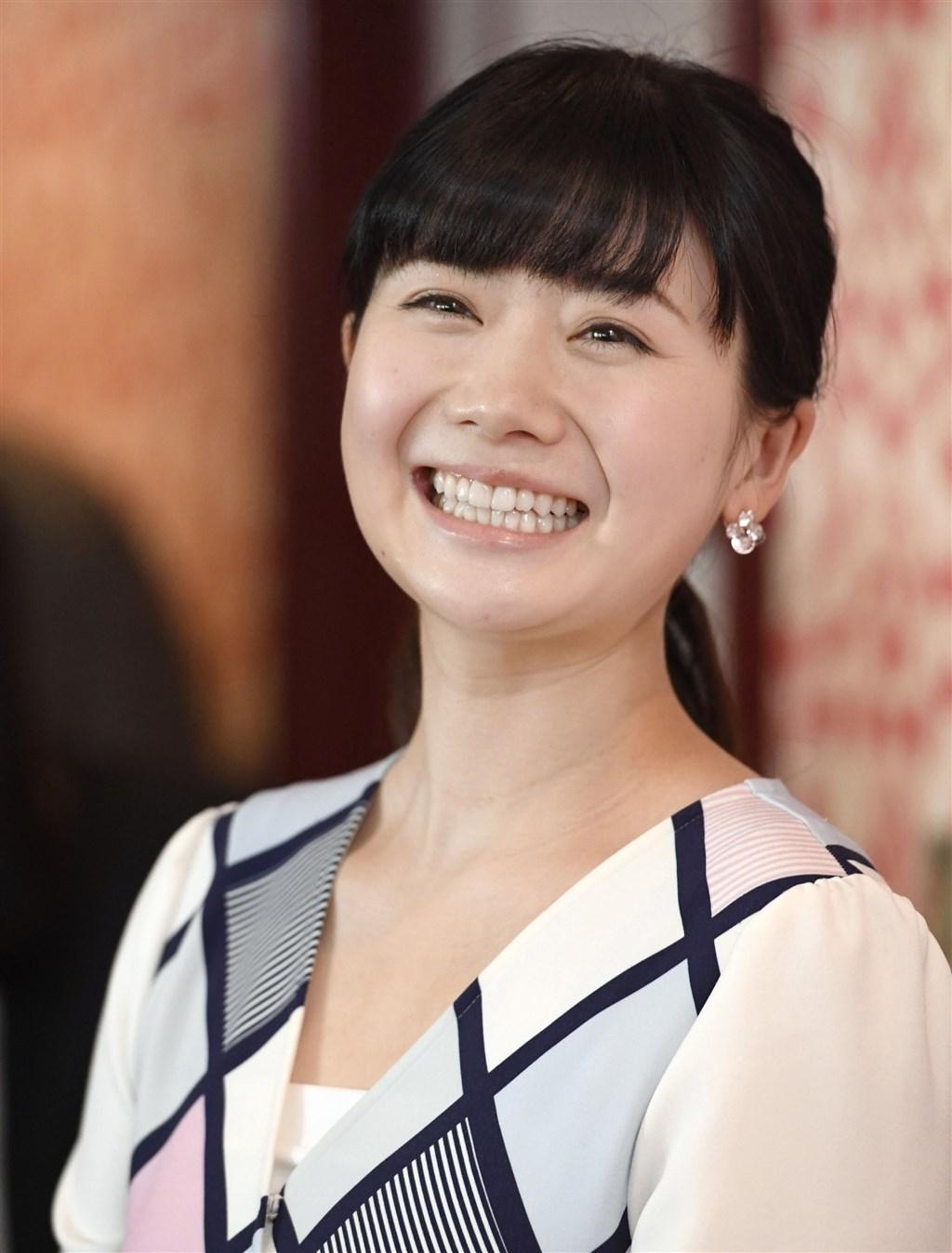 嫁給台灣桌球好手江宏傑的日本桌球明星福原愛,14日獲得日本桌球協會頒贈的特別功勞獎。(檔案照片/共同社提供)