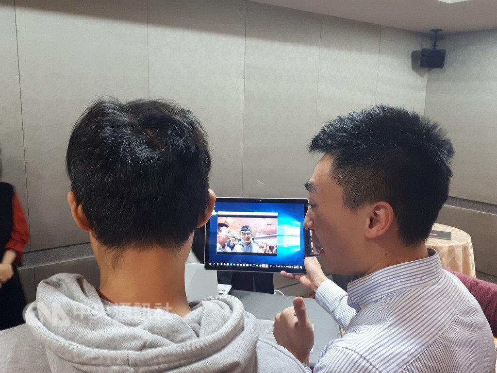 元智大學團隊開發臉部辨識系統,只需一張照片,就可快速辨識和確認身分,可應用在校園安全上。中央社記者許秩維攝 108年1月22日
