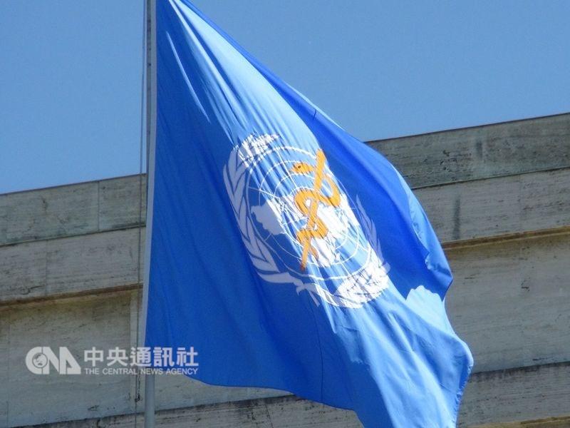 美國眾議院22日無異議通過支持台灣重返世衛組織法案。圖為世衛旗幟。(中央社檔案照片)