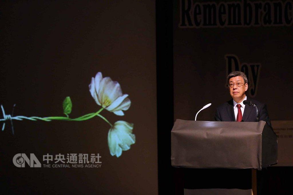 「2019國際猶太大屠殺紀念日」27日舉辦,副總統陳建仁(圖)表示,戰後德國用誠實的態度承擔責任,與以色列締結邦誼,台灣走在轉型正義路上,要學習兩國攜手向前的遠見與胸懷。中央社記者游凱翔攝 108年1月27日