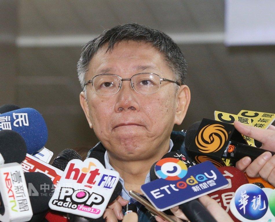 代表柯家軍參加立委補選的陳思宇失利,台北市長柯文哲(圖)28日受訪表示,無論成功或失敗,都是生命一部分,失敗的檢討報告寫比較多而已;至於結果,「我看選前民調差不多就是這樣」。中央社記者郭日曉攝  108年1月28日