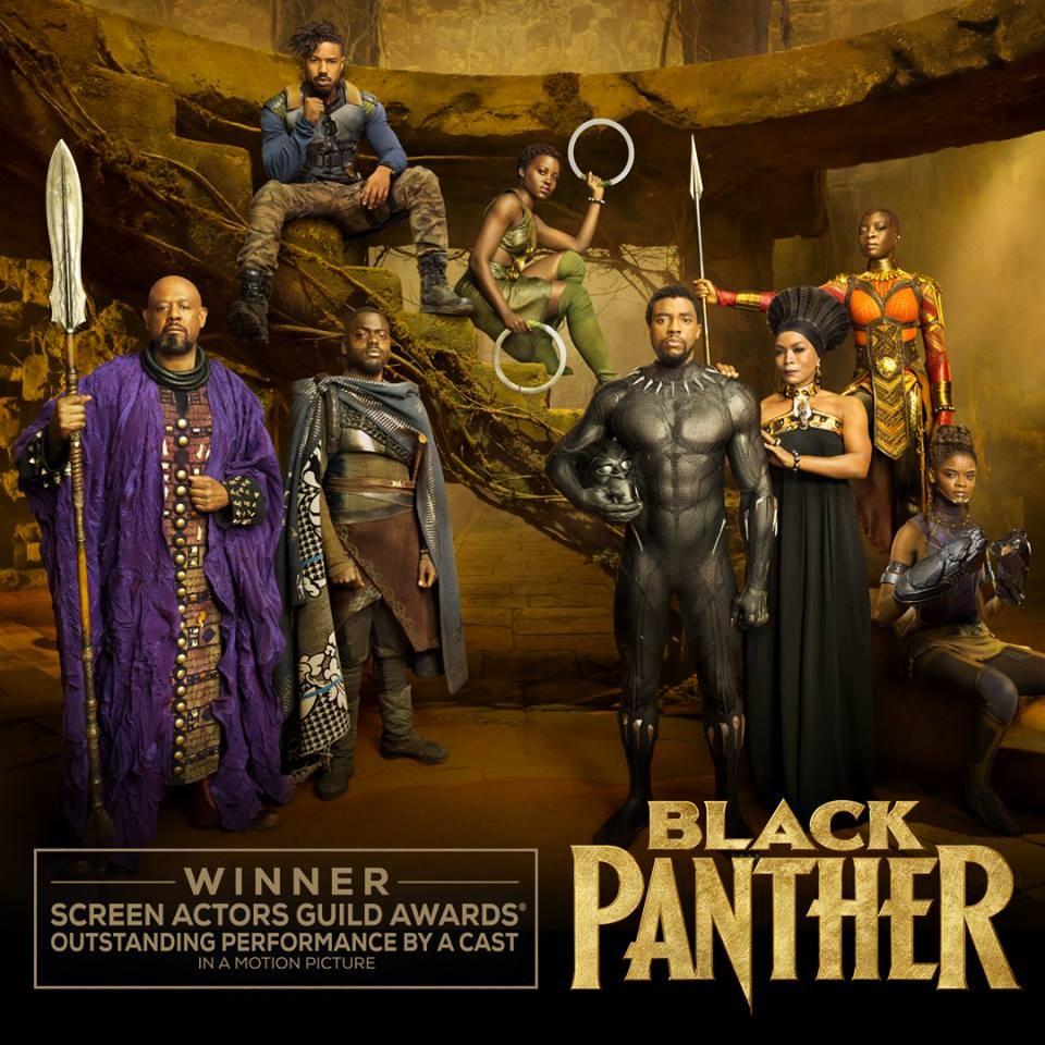 超級英雄電影「黑豹」28日在好萊塢勇奪美國演員工會獎最大獎。(圖取自www.facebook.com/BlackPantherMovie)