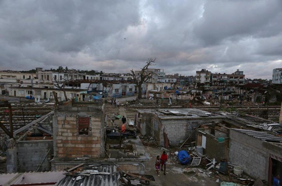 古巴遭逢近80年來最強的龍捲風,摧毀哈瓦那多個地區。(路透社提供)