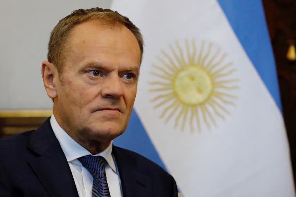 歐洲理事會主席圖斯克致電其他歐盟27國領袖,協調一致回應,並發出聲明強調不考慮與英國重新談判。(圖取自www.facebook.com/europeancouncilpresident)