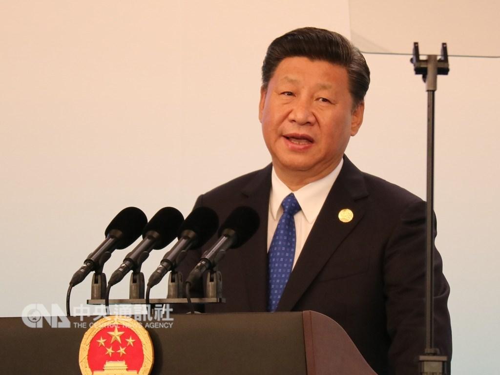 中國網上近日流傳,中國國家主席習近平去年在上海主持進博會時,曾發表對美國強硬談話。(中央社檔案照片)