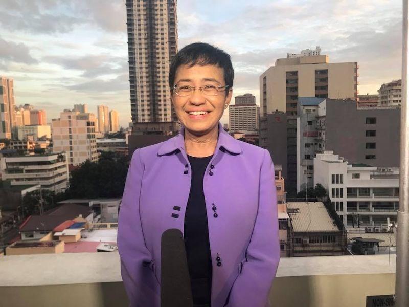 2018年獲選「時代」雜誌風雲人物之一的菲律賓網路新聞媒體Rappler執行長瑞薩13日被以「網路誹謗」罪名逮捕。(圖取自facebook.com/maria.ressa)