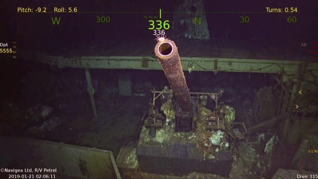 美國傳奇航母「大黃蜂號」的殘骸已在南太平洋約5400公尺深的深海被尋獲。(圖取自paulallen.com)