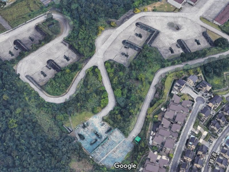 Google地圖3D影像日前在台上市,讓愛國者飛彈陣地(圖)意外曝光。(圖取自Google地圖網頁google.com.tw/maps)