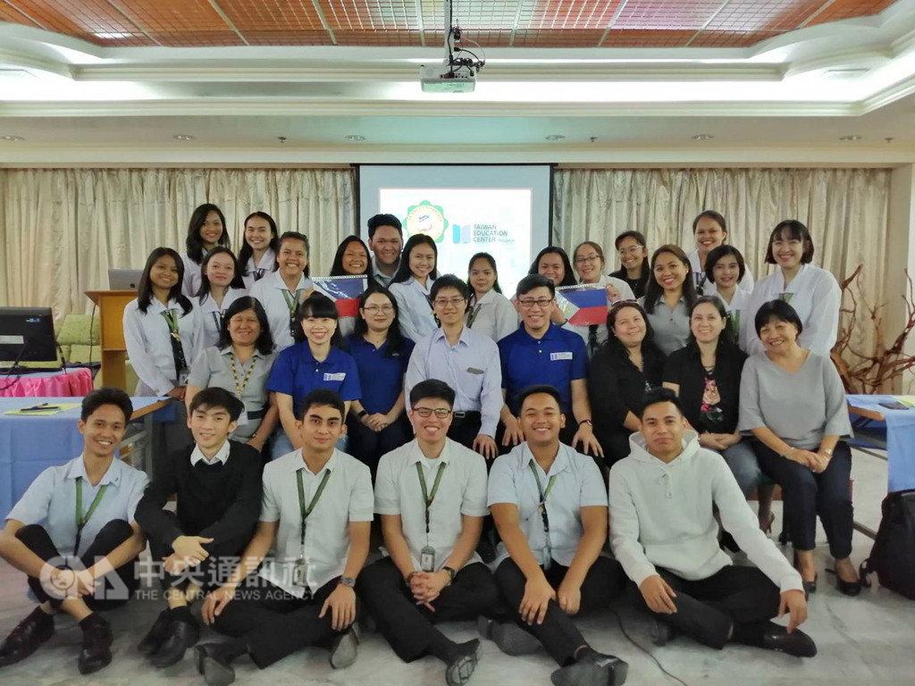 菲律賓台灣教育中心與聖保羅大學(SPU)奎松市校區合作華語體驗課程,鼓勵這所大學的學生與教職員赴台深造。(菲律賓台灣教育中心提供)中央社記者林行健馬尼拉傳真 108年2月18日