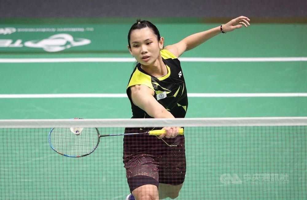 尋求全英羽球公開賽女單3連霸的台灣球后戴資穎,8日闖進4強。(中央社檔案照片)