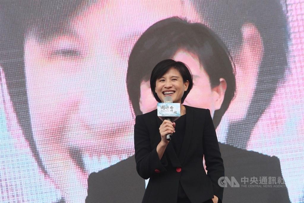 文化部長鄭麗君(圖)15日在台北西門紅樓外,出席政治電視劇「國際橋牌社」開鏡記者會,表示文化部將大力支持該劇拍攝。中央社記者吳家昇攝 108年3月15日