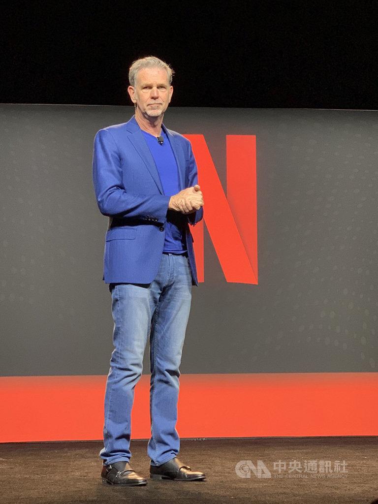 網路電視串流服務Netflix於18日在美國洛杉磯總部舉辦Labs Day活動,執行長哈斯汀(Reed Hastings)受訪說,Netflix在過去10多年一直面臨競爭,如果有很棒的對手,會激發Netflix拿出最好的表現。中央社記者吳家豪洛杉磯攝 108年3月18日