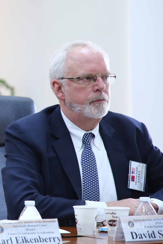 前美國國務院副助卿施大偉(David Shear)19日表示,台灣非國際局勢中的棋子,而是重要民主成員。中央社記者游凱翔攝 108年3月19日