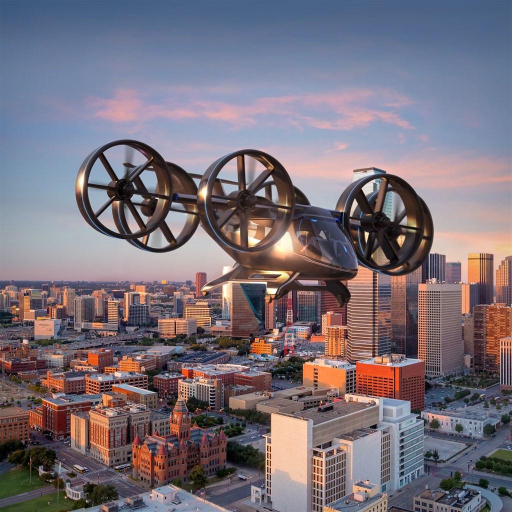 貝爾公司打造可垂直起降的飛天計程車隊,可望於2025年左右展開商業營運。(圖取自貝爾公司官網bellflight.com)