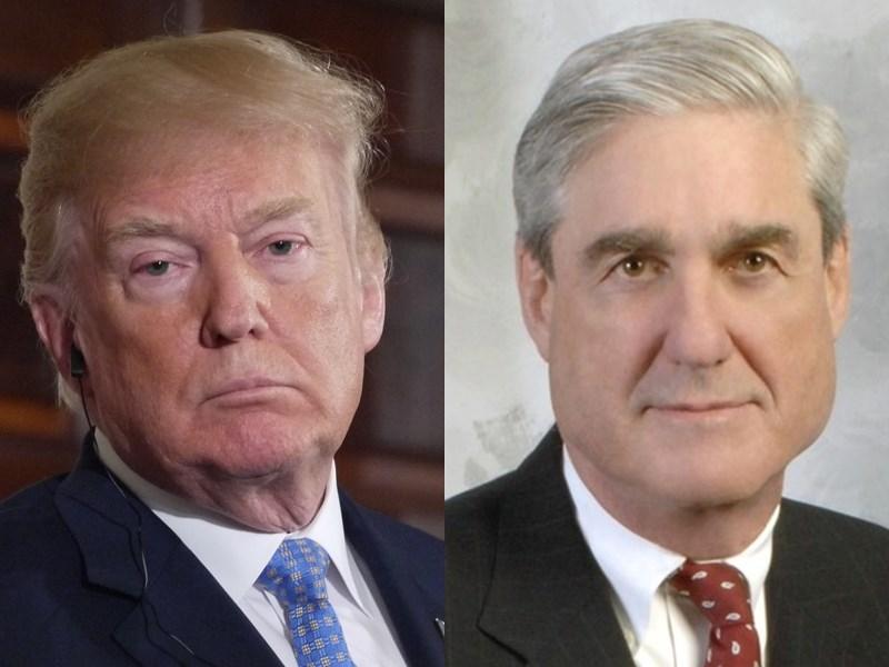 穆勒(右)是前聯邦調查局局長,他2017年被指派擔任特別檢察官,負責美國史上最具影響性案件之一的川普(左)通俄門調查。(右圖取自美國聯邦調查局網頁fbi.gov;左圖中央社檔案照片)