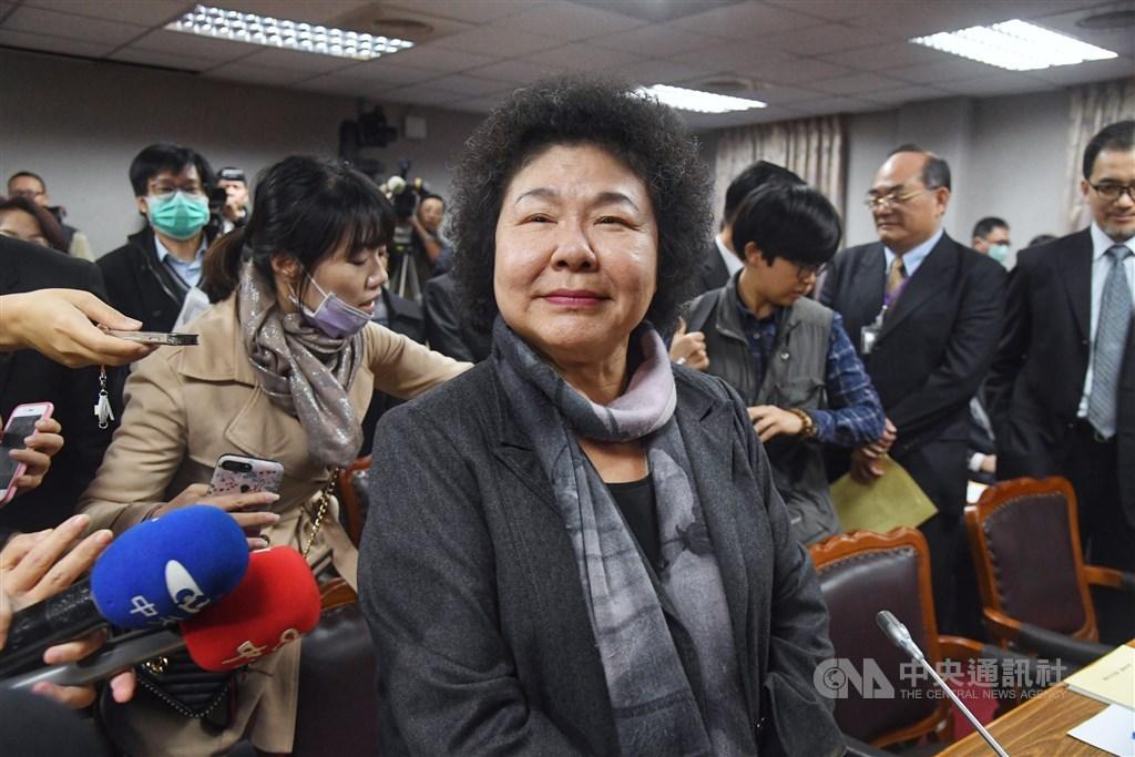 總統府秘書長陳菊(圖)26日在臉書發文表示,決定對幾位明顯逾越言論自由範疇,以不實言論抹黑的媒體人士提告。(中央社檔案照片)