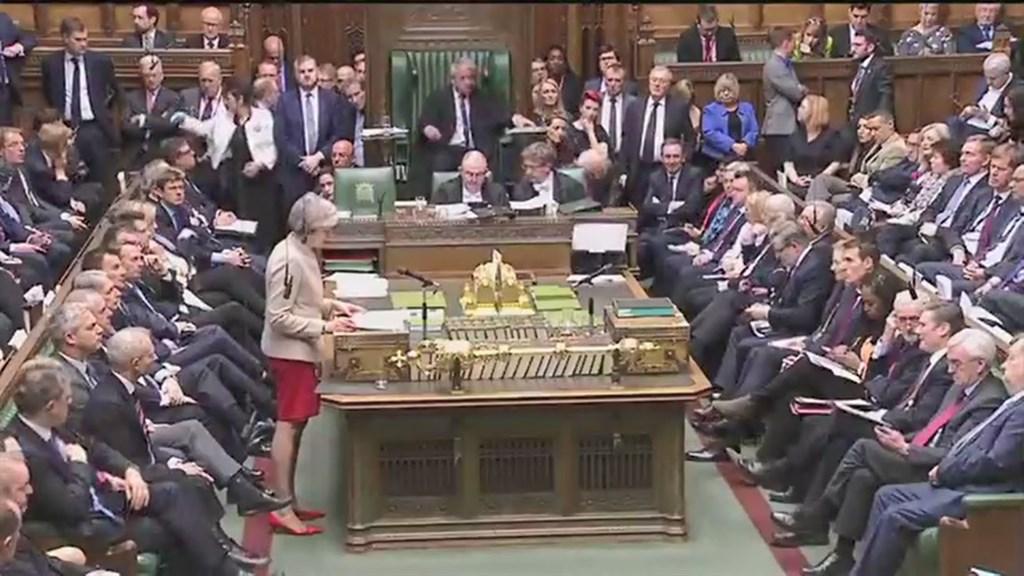 英國首相梅伊的脫歐協議29日在國會第3度闖關失敗,5月22日脫歐期望泡湯。(圖取自facebook.com/10downingstreet)