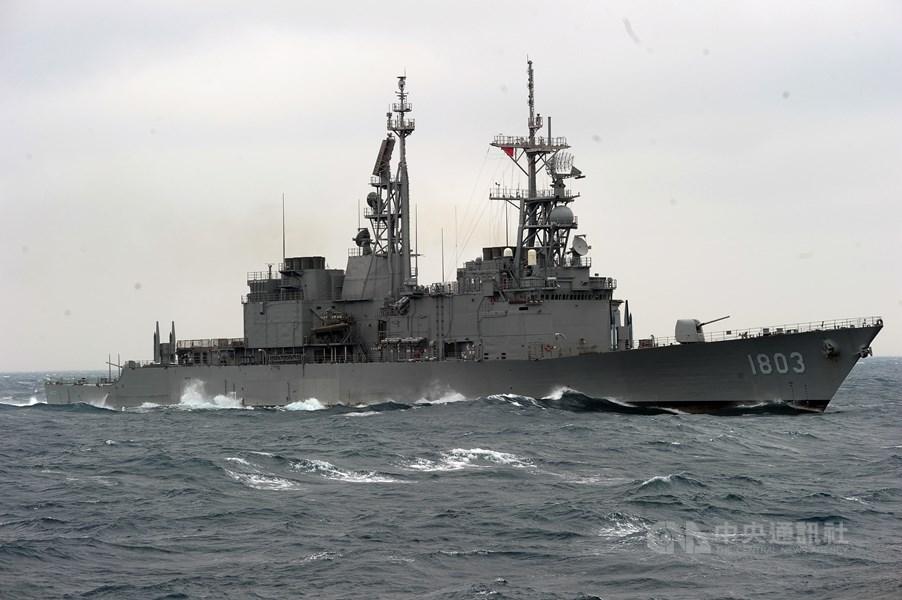美國國防部公告一份合約,提供台灣海軍艦艇相關雷達翻修,總價約新台幣15.4億元。圖為海軍紀德艦。(中央社)