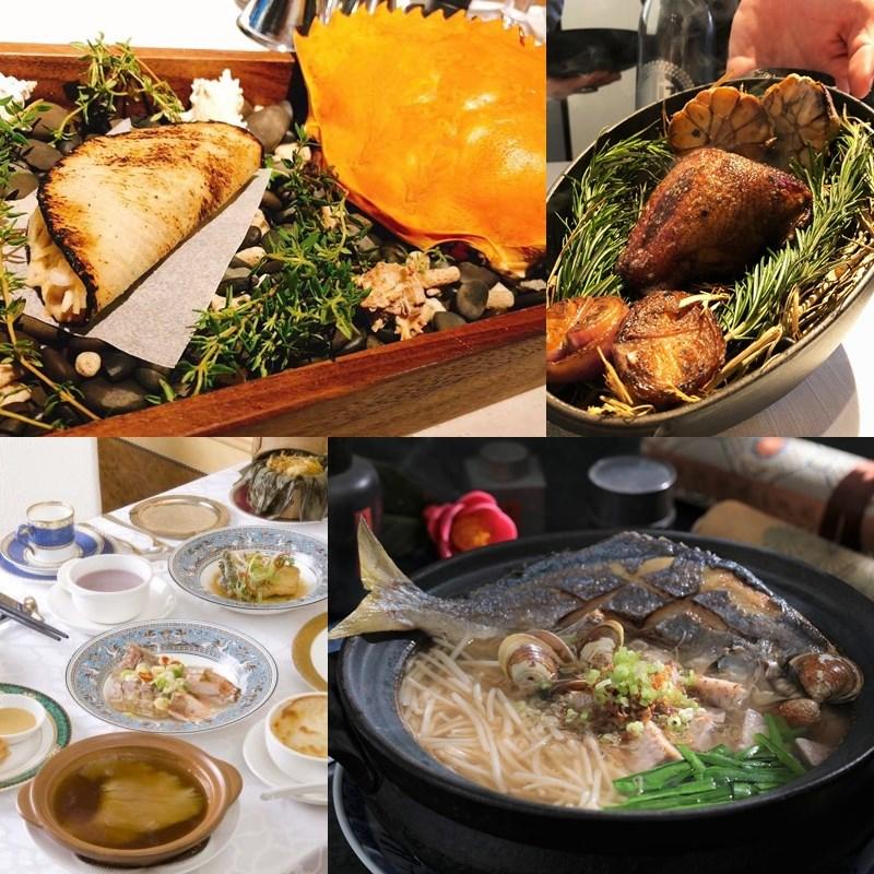 台北米其林指南10日上午發布,今年名單中,IMPROMPTU by Paul Lee(左上)、台南擔仔麵(左下)、山海樓(右下)為新進榜一星餐廳。(圖取自各餐廳臉書)