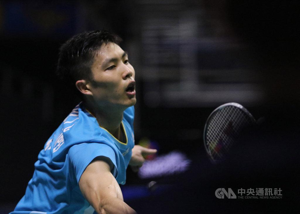 新加坡羽球公開賽13日進行男單4強戰,台灣羽球一哥周天成未能擊敗印尼好手金廷(Anthony Sinisuka Ginting)挺進決賽,無緣爭冠衛冕。中央社記者黃自強新加坡攝 108年4月13日