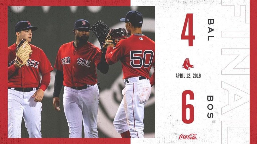 大聯盟MLB波士頓紅襪12日晚間在主場6比4擊退巴爾的摩金鶯,也寫下本季首次2連勝。(圖取自facebook.com/RedSox)