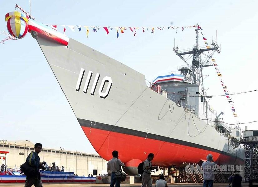 台灣海軍敦睦艦隊18日至20日將在帛琉進行友好訪問。圖為海軍田單號。(中央社檔案照片)