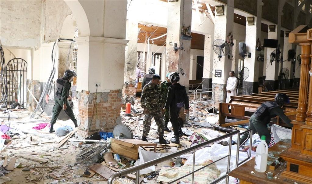 斯里蘭卡21日發生一連串自殺炸彈攻擊,造成253人喪生、500多人受傷。(安納杜魯新聞社提供)