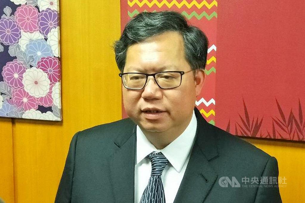 高雄市長韓國瑜針對是否投入2020總統大選發表5點聲明。桃園市長鄭文燦(圖)24日表示,市長對市民有責任,照顧市民並建設城市,也是能做事的職務。中央社記者吳睿騏桃園攝  108年4月24日